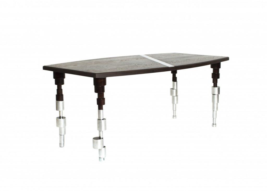 table design sur mesure bois et métal par tristan Jaoul menuisier ébéniste ferronier à nantes carquefou, saint herblain, chapelle sur erdre, coueron