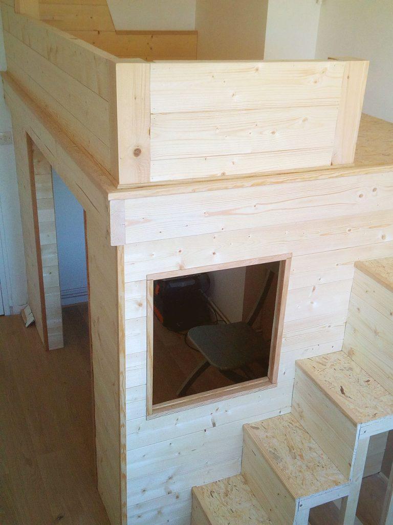 Fabriquer Un Claustra Bois exemple de fabrication d'une mezzanine en bois et métal à