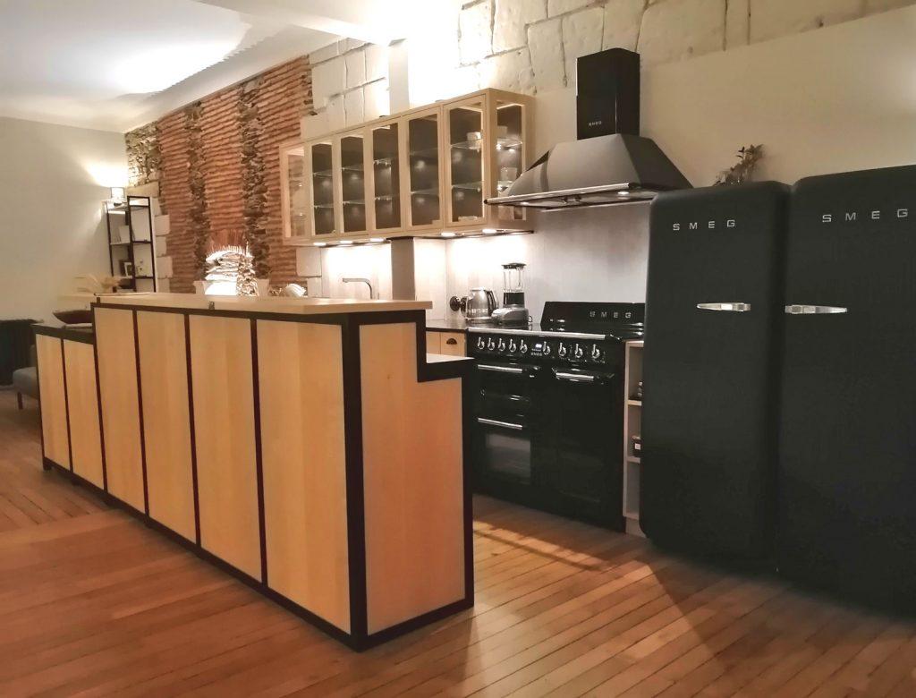 Bar cuisine bois métal Nantes